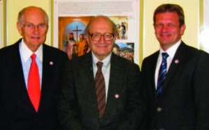 Amb. Ted Russell, Dr. Toran and Amb. Peter Kmec