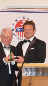 Amb. Peter Kmec with Dr. Jan Vilcek, Man of the Year