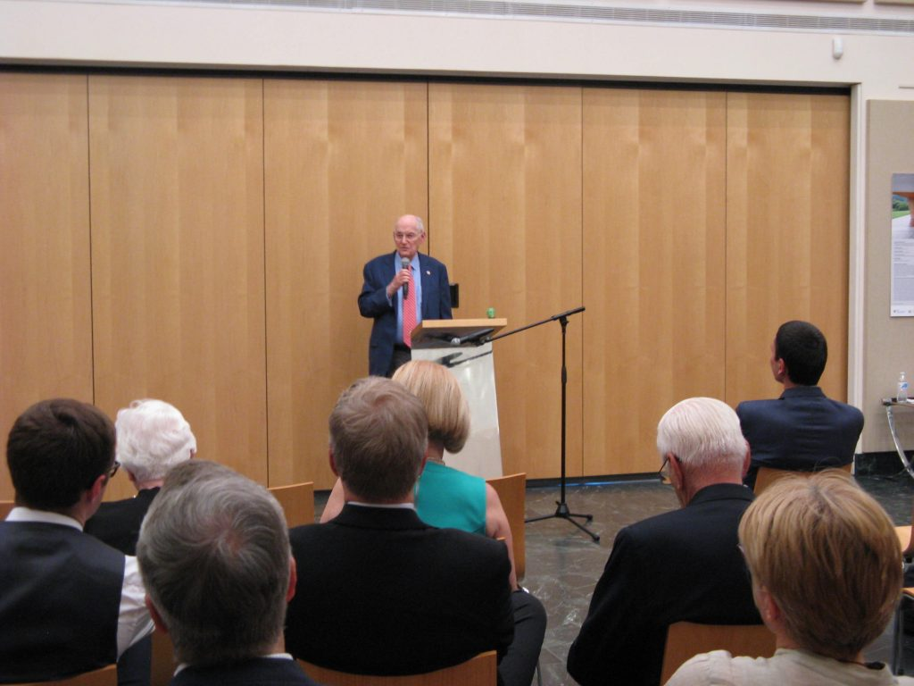 Amb. Ted Russell (Ret.) speaking at the event.