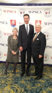 Amb. Adam Sterling with FOS Chairman Joe Senko and wife Albina