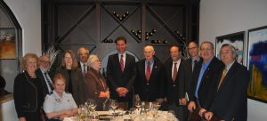 Amb. Adam Sterling with the FOS Board of Directors