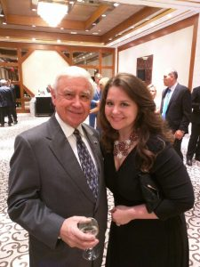 FOS Board members Joe Senko and Sabina Sabados at the Lacjak reception
