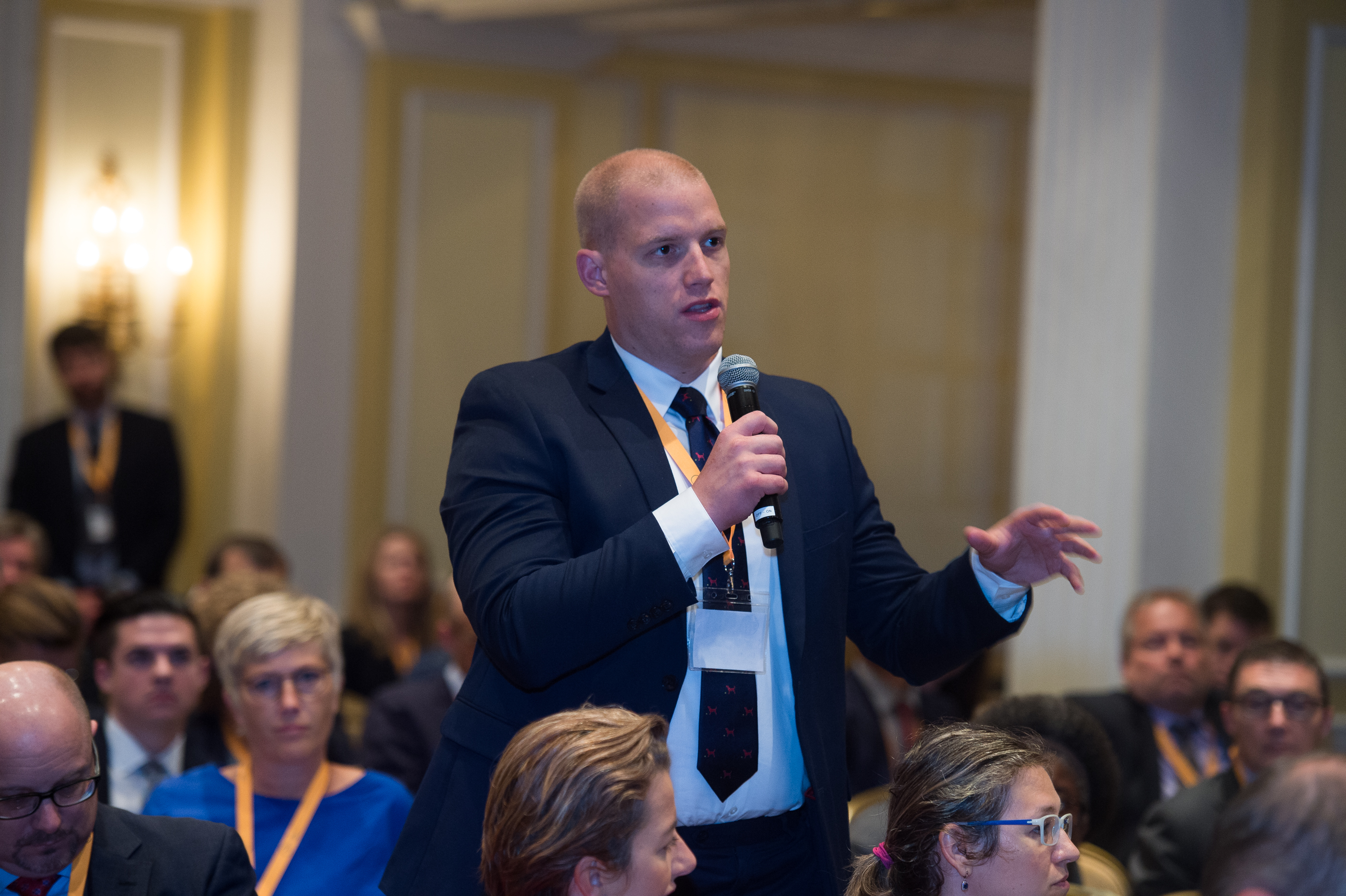 Dusan Fischer comments at the CEPA Forum (Photo courtesy of CEPA)