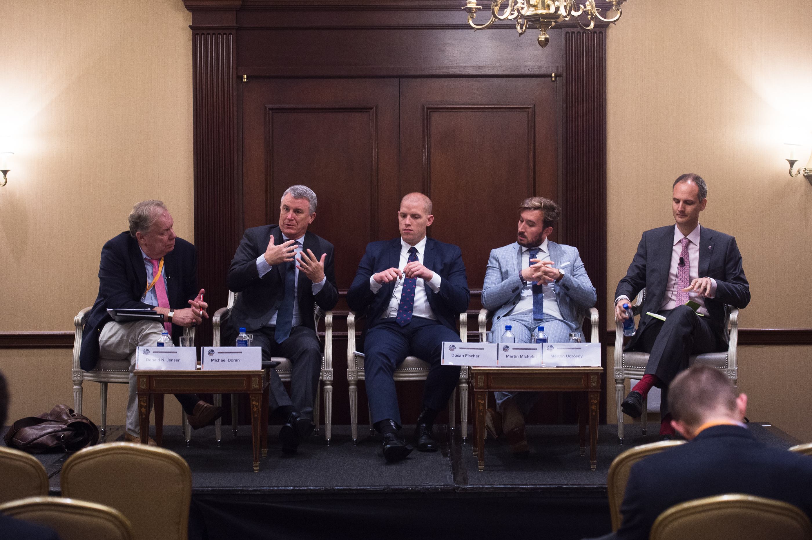 Dusan Fischer (center) participates in CEPA Forum panel on Migration and Security (Photo courtesy of CEPA)
